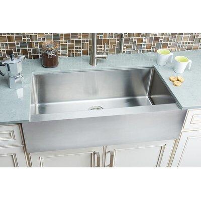 Flat-Apron 35.88 x 20.75 Single Bowl Farmhouse Kitchen Sink
