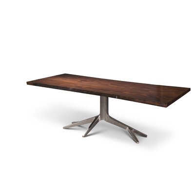 IE Series Trunk Dining Table Finish Electroplated Nickel