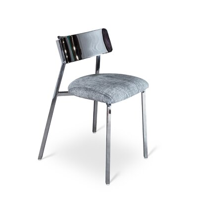 Alcazar Side Chair Upholstery: Black Stone Wash Chalet