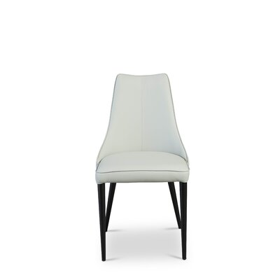 Bomar Upholstered Dining Chair (Set of 2) Color: White