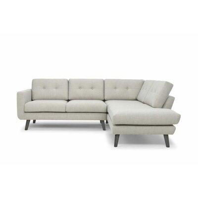 Cordelia Mod Chaise Sectional Upholstery: Mole