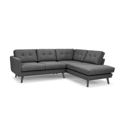 Cordelia Mod Chaise Sectional Upholstery: Dark Gray