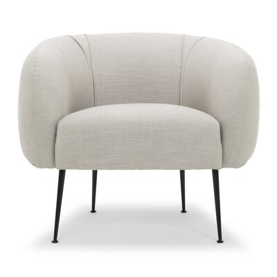 Depuy Barrel Chair Upholstery: Gray