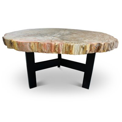 Hopkinton Round Coffee Table Table Top Color: Natural Light