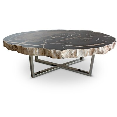 Hopkinton Modern Coffee Table Table Top Color: Natural Dark