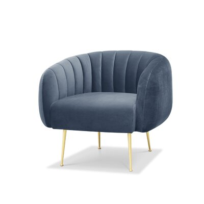 Depuy Barrel Chair Upholstery: Dust Blue