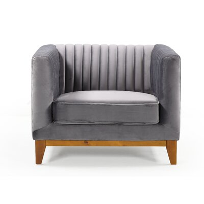 Glenville Armchair Upholstery: Gray