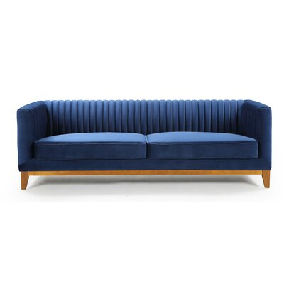 Glenville Sofa Upholstery: Blue