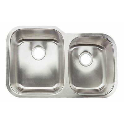32 x 20.63 Double Bowl Undermount Kitchen Sink