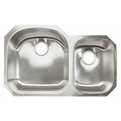 32.38 x 20.5 Double Bowl Undermount Kitchen Sink