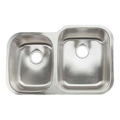 Clark Surface 32 x 21 Double Basin Undermount Kitchen Sink