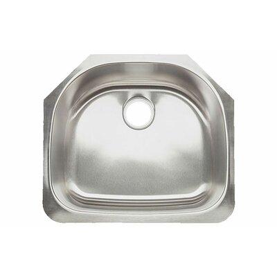 Clark Surface 23 x 21 Single Half-Moon Basin Undermount Kitchen Sink