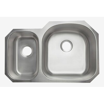 Clark 16 Gauge 32 x 21 Double Basin Undermount Kitchen Sink