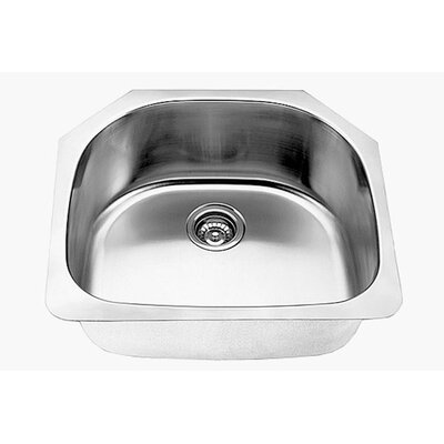 Clark 16 Gauge 24 x 21 Single Half-Moon Basin Undermount Kitchen Sink