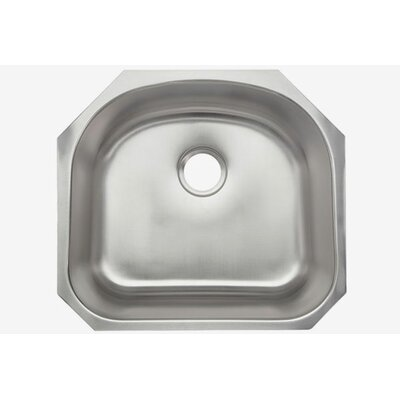 Clark 18 Gauge 23 x 21 Single Half-Moon Basin Undermount Kitchen Sink