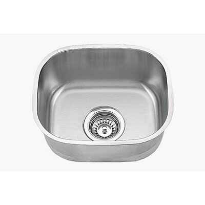 Clark 18 Gauge 15 x 13 Single Basin Undermount Kitchen Sink