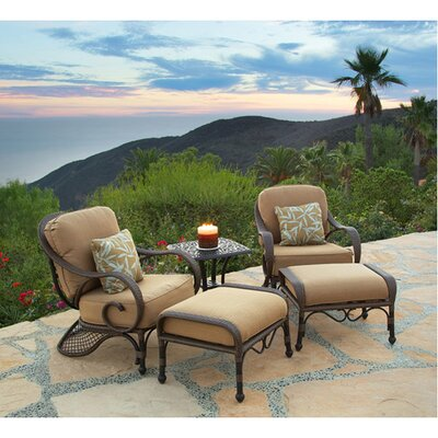 Loreto 5 Piece Deep Seating Group with Cushions