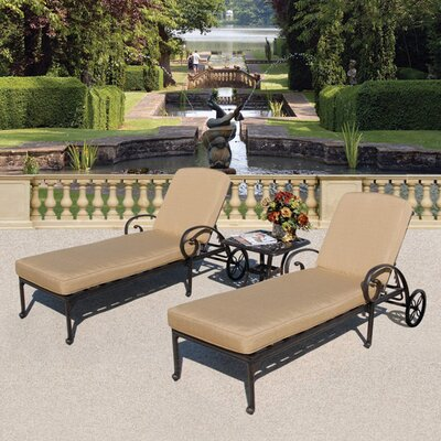 Maravilla 3 Piece Chaise Lounge Set with Cushions