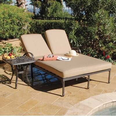 Image of Maravilla Double Sun Lounger with Cushion