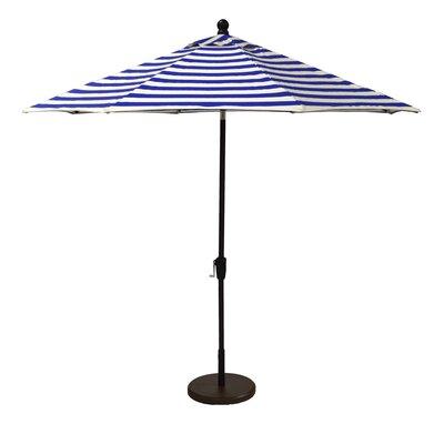 Wildon Home 9' Market Umbrella (2 Pieces) - Frame Finish: Bronze, Fabric: Maxim Forest Green