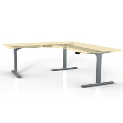 StandDesk Height & Width Adjustable 3 Leg Desk Base Finish: Gray Product Image 5812
