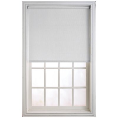 Window Roller Shade Color: White, Size: 73 W x 66 L