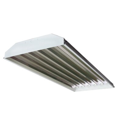 6-Light High Bay Fluorescent Light Fixture with 32W T8 Bulb