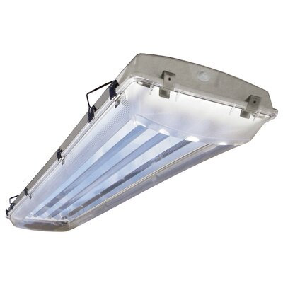 6-Light Vapor Proof High Bay Fluorescent Light Fixture