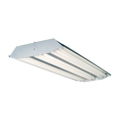 6-Light High Bay Fluorescent Light Fixture with 32W T8 Bulbs