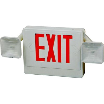 Exit / Emergency Light Shade Color: Red / White