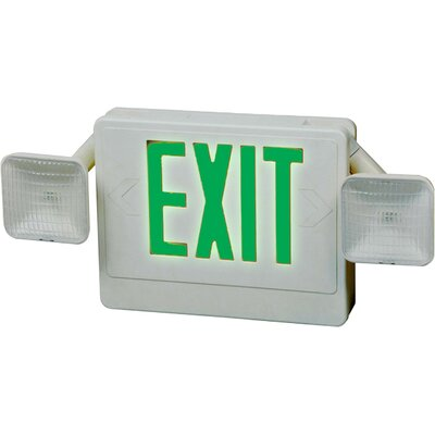 Exit / Emergency Light Shade Color: Green / White