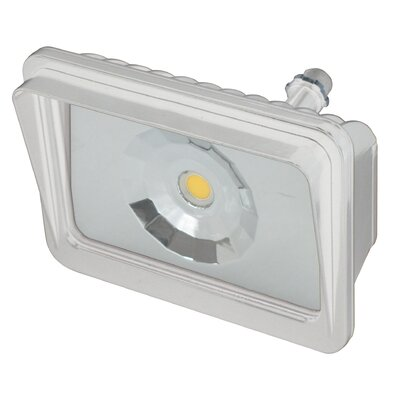 LED Flood Light Finish: White, Bulb Type: 27W