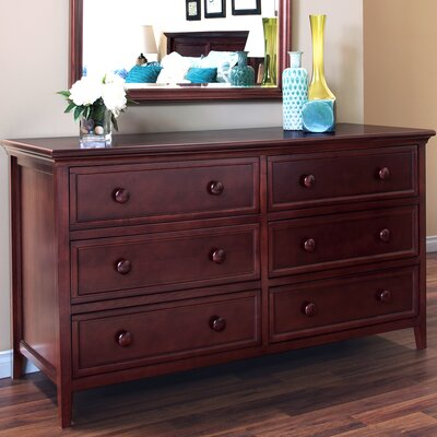 Verona 6 Drawer Double Dresser