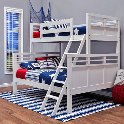 Quinn Twin Over Full Bunk Bed Finish: White