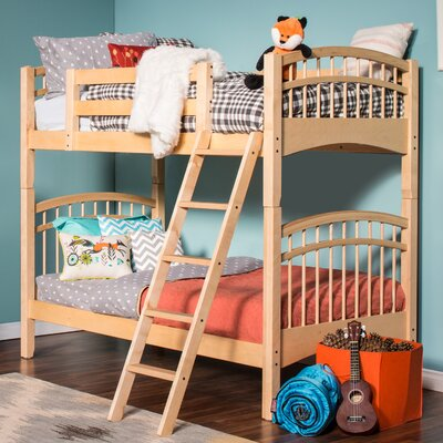 Mckenzie Twin over Twin Bunk Bed Color: Natural Birch