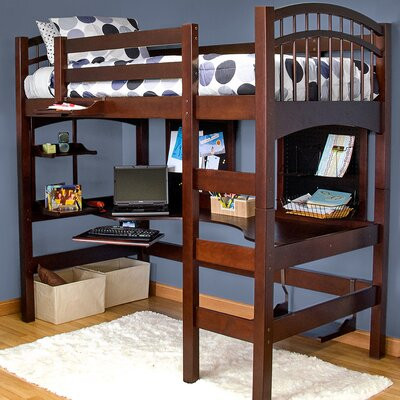 Mckenzie Loft Bed Finish: Coffee