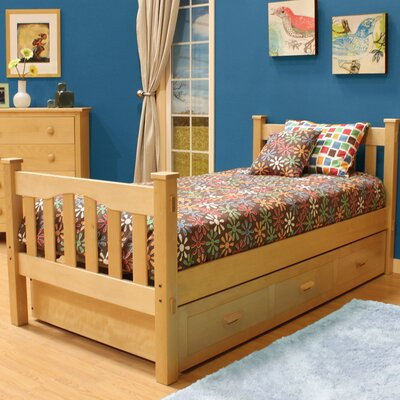 Gabriel Slat Bed with Trundle Finish: Natural Birch