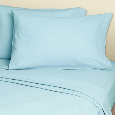 Convert-A-Fit Sheets? 200 Thread Count Linen Sheet Set Size: King, Color: Light Blue