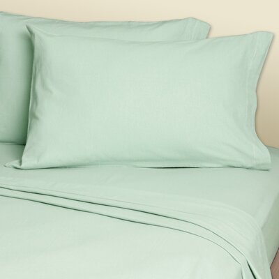 Convert-A-Fit Sheets? 200 Thread Count Linen Sheet Set Size: Queen, Color: Seafoam