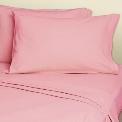 4 Piece 200 Thread Count Sheets Set Size: King, Color: Rose