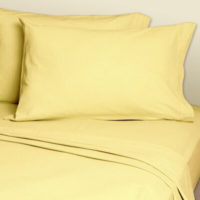 4 Piece 200 Thread Count Sheets Set Color: Yellow, Size: Super Single
