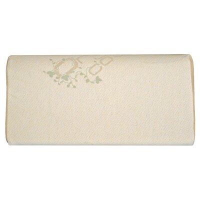 100% Cotton Memory Foam Pillow Size: 12 H x 24 W x 5 D