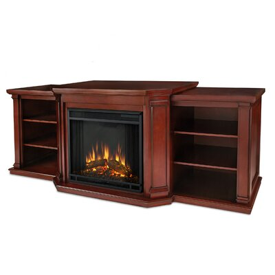 "Woodbridge Home Designs 75.5"" TV Stand with Electric Fireplace - Finish: Dark Mahogany at Sears.com"