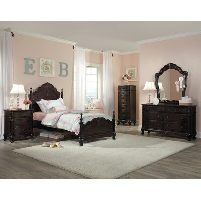 Woodhaven Hill Cinderella Panel Customizable Bedroom Set (2 Pieces) - Size: Queen, Finish: White Wash