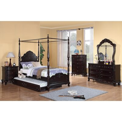 Woodhaven Hill Cinderella Panel Customizable Bedroom Set (6 Pieces) - Size: Full, Finish: White Wash