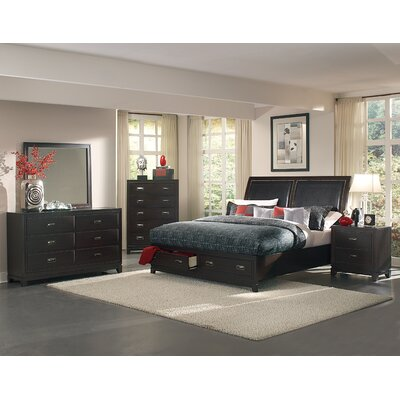 Lindley Storage Sleigh Bed Size: California King
