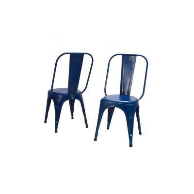 Amara Side Chair (Set of 4) Finish: Blue