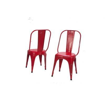 Amara Side Chair (Set of 4) Finish: Red