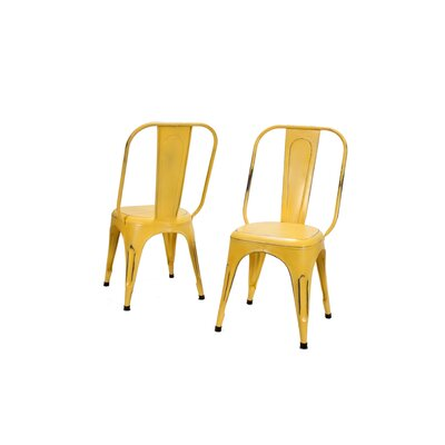 Amara Side Chair (Set of 4) Finish: Yellow