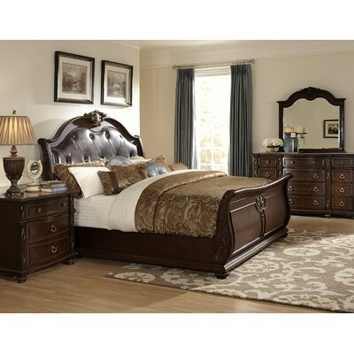 Hillcrest Manor Upholstered Sleigh Bed Size: King